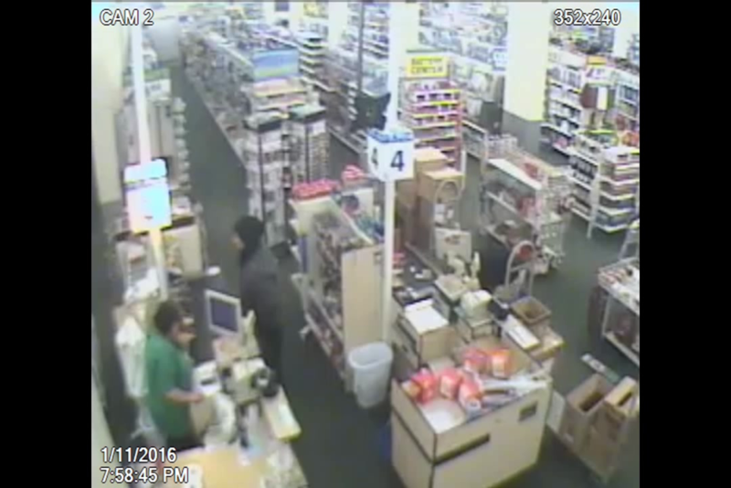 Security camera footage shows the suspect just before he shows a gun to the cashier at the Deal$ store on Glenway Ave.