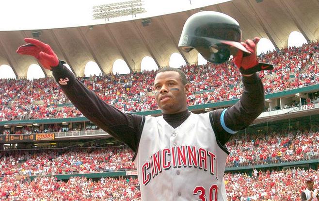 ee4cdff7b6 Ken Griffey Jr. celebrates his 500th home run, hit in St. Louis in 2004.