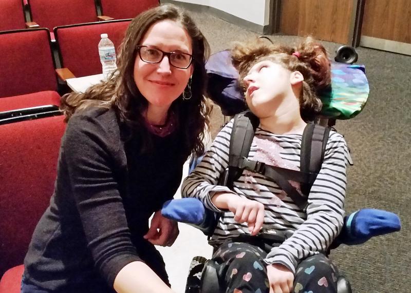 Nicole Scholten advocates on behalf of her daughter, Lucy, in favor of legalizing medical marijuana.