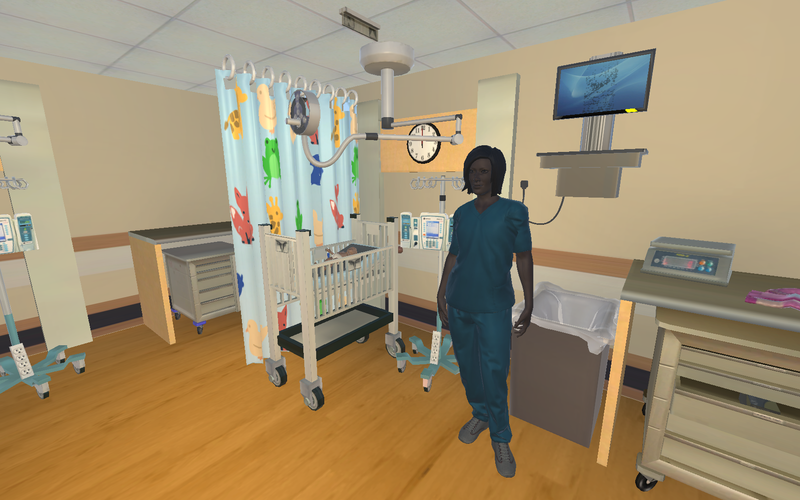 Right down to the design on the curtains, Miami University students replicated the Children's Hospital NICU for virtual reality evacuation training.