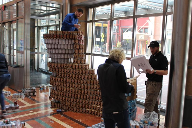 "Also in the lobby of the Aronoff, ""Chip in to Fight Hunger"" from Architects Plus/HGC Construction"