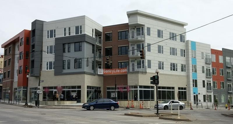 The Gantry is the first newly constructed building in Northside's business district in more than 60 years.