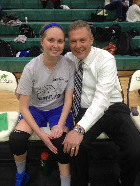 Brad Johansen with Lauren Hill.
