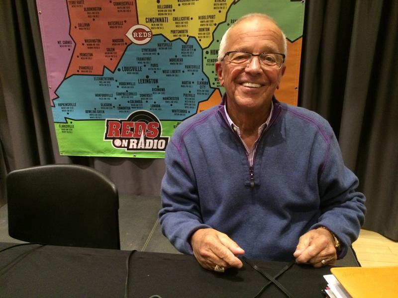 Marty Brennaman at a 2016 Reds Hot Stove League broadcast.