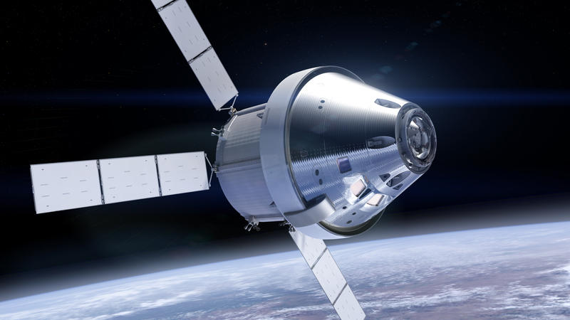 Orion plans to go beyond the moon and back in 2018 on an unmanned mission, manned in 2012 and to Mars in the 2030s.