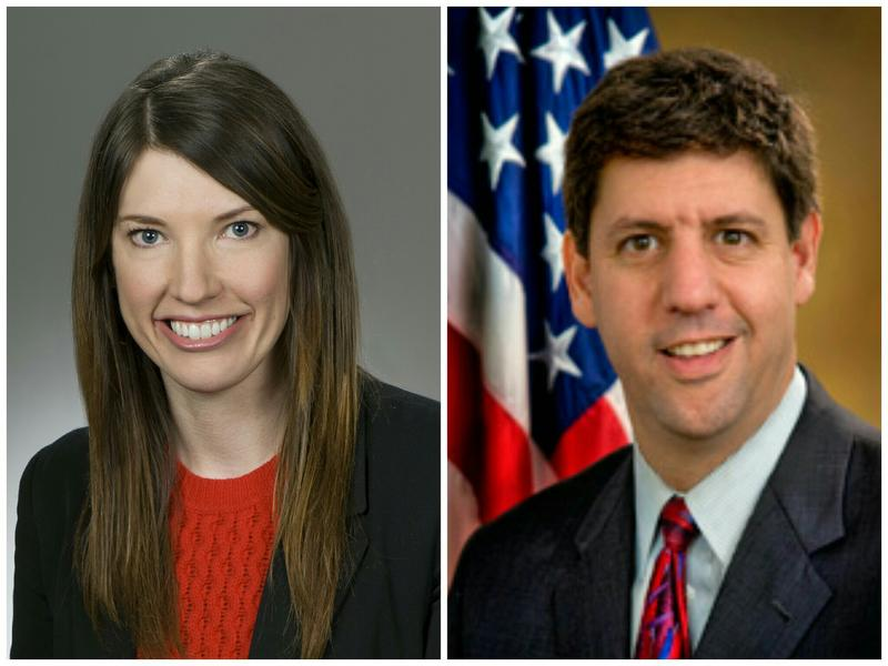 State Rep. Kathleen Clyde of Kent and Steve Dettelbach, the former U.S. Attorney for the Northern District of Ohio, based in Cleveland.