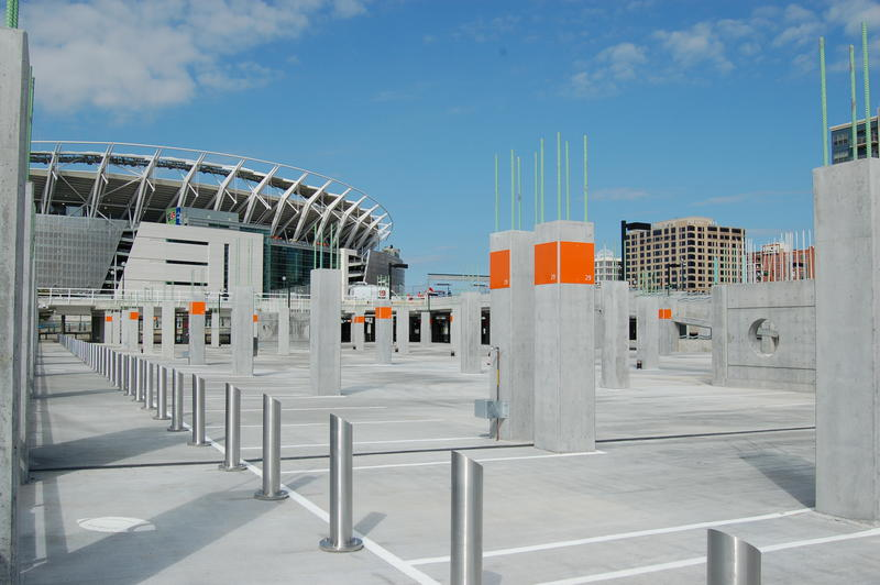 Phase IIIA of The Banks public infrastructure project includes 710 parking space in a two-level garage.
