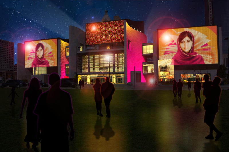The National Underground Railroad Freedom Center is one of the buildings that will host a Blink projection.