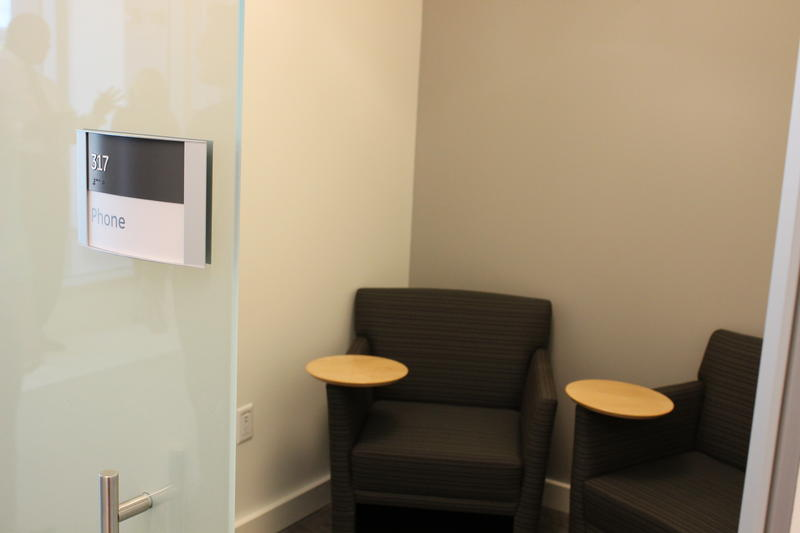 One of many small rooms available for private phone conversations.