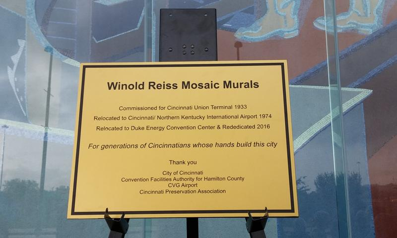 Each mural has a plaque describing the scene. This plaque will tell an overall history.