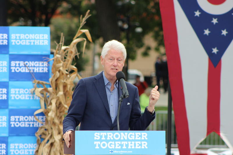 Bill Clinton rallies support for Hillary Clinton Oct. 14, 2016 in Cincinnati's Washington Park.