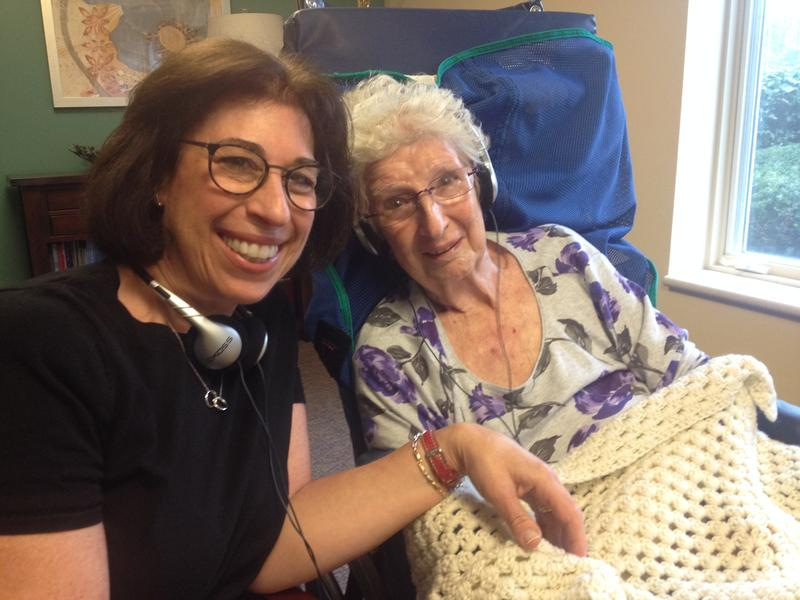 Rita Baker and her mother Sylvia Friedman, who suffers from dementia, share a moment together with music.