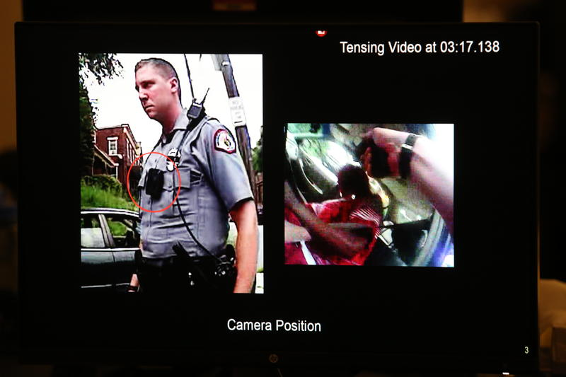 Thurs., Nov. 3, 2016: Expert video analyst Grant Fredericks of Forensic Video Solutions goes through millisecond intervals of footage from the bodycam Ray Tensing was wearing when he shot and killed Sam DuBose.