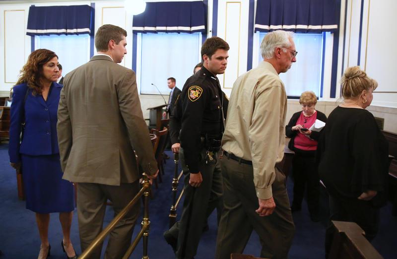 Ray Tensing leaves court Thursday.