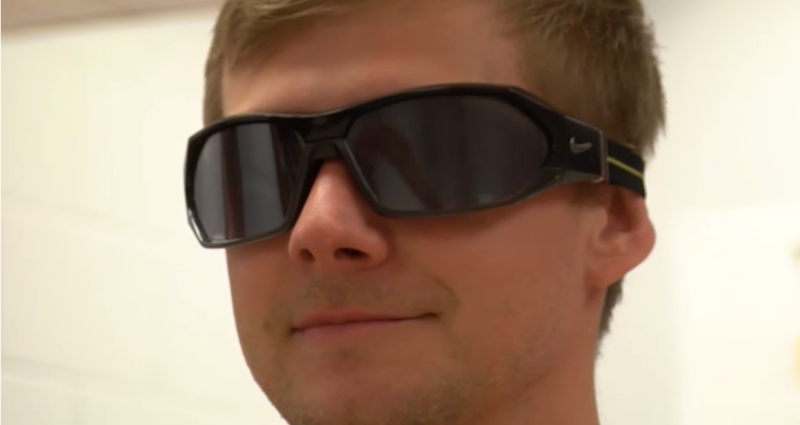 These glasses are being used to visually distract patients so their brains will rewire back to their original state.