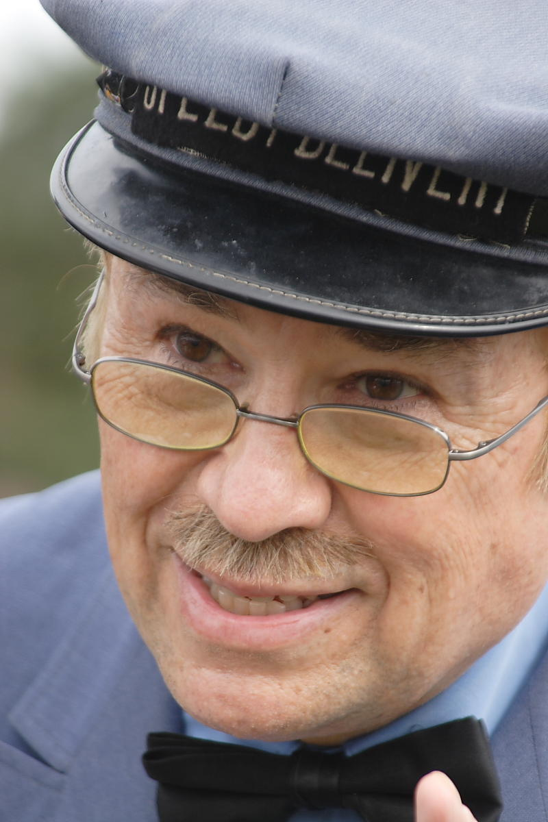 """David Newell as the Speedy Delivery man on """"Mister Rogers Neighborhood"""""""