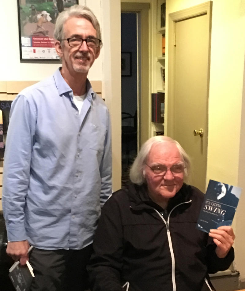 Jim Nunn standing next to John Von Ohlen at a recent book signing.