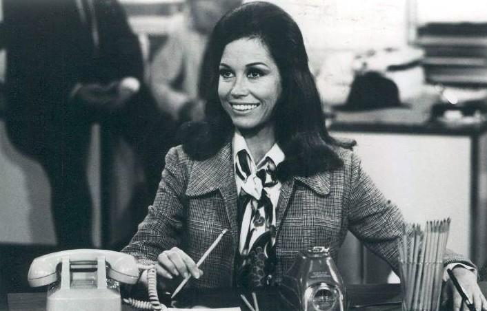 "A scene from the ""Mary Tyler Moore Show"" premiere in 1970."