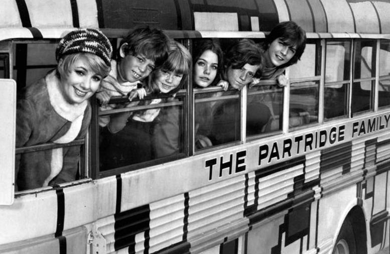 """""""The Partridge Family"""" premiered in fall 1970 on ABC with (from left) Shirley Jones, Jeremy Gelbwaks, Suzanne Crough, Susan Dey, Danny Bonaduce and David Cassidy"""