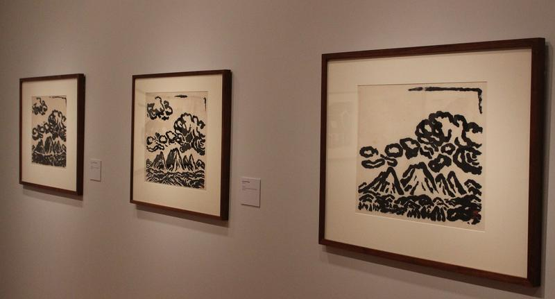 These three prints came from the same woodcut, and show how individual each print can be.