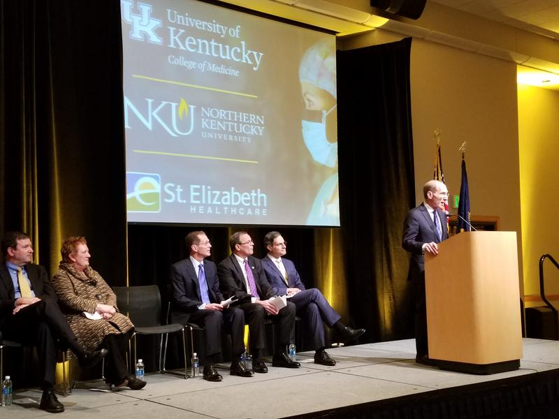 UK President Eli Capilouto announces a new four-year medical school in partnership with NKU and St. Elizabeth Healthcare.