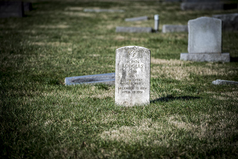 An original gravestone of World War I veteran.