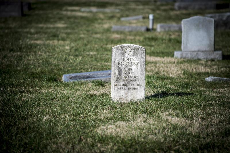 An original gravestone of World War I veteran.