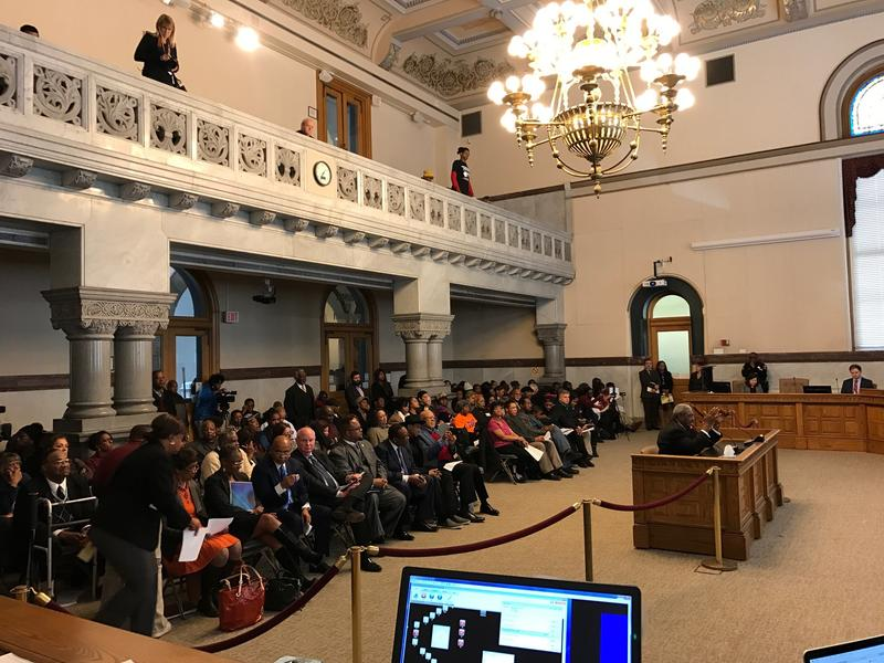 People filled Cincinnati City Hall Wednesday to show support for the Center for Closing the Health Gap.