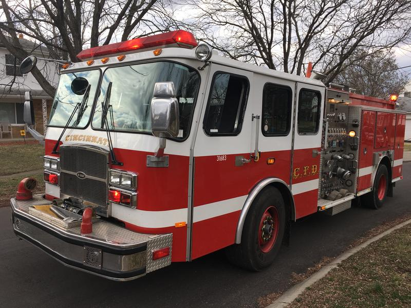 Cincinnati Fire Trucks are dispatched based on the actual real-time location and not the location of the fire house.