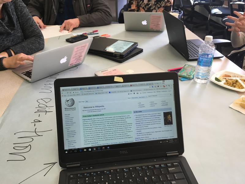 The Edit-A-Thon was created by Art + Feminisim to increase the number of women curating content on Wikipedia.