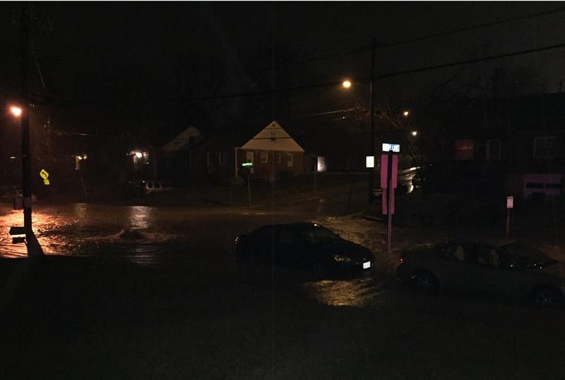 Flooding along Muddy Creek Road.