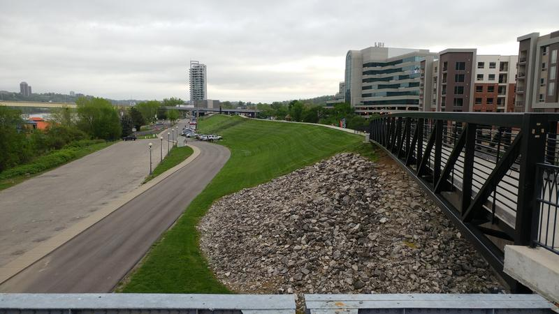 The Newport levee stretches 2.39 miles, from Bellevue to Wilder.