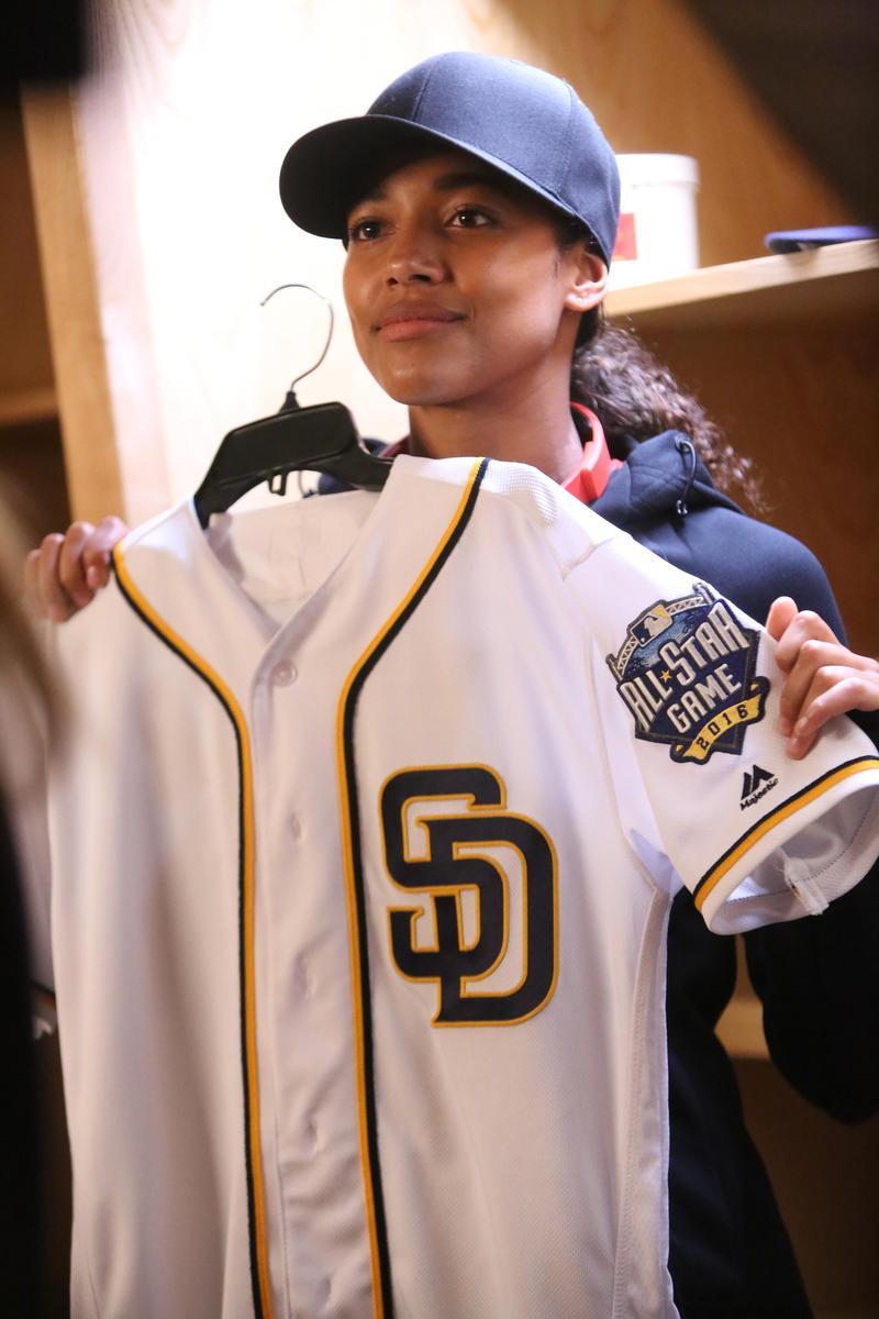 "Kylie Bunbury stars in Fox's ""Pitch"" as a San Diego Padres pitcher."