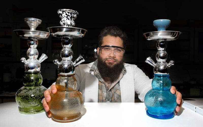 UC graduate student Ryan Saadawi finds hookah tobacco heated electronically kills 70 percent more lung cells than traditional charcoal.