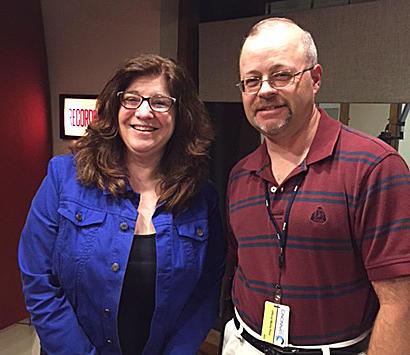 Maryanne Zeleznik and Jay Hanselman in the WVXU studios.