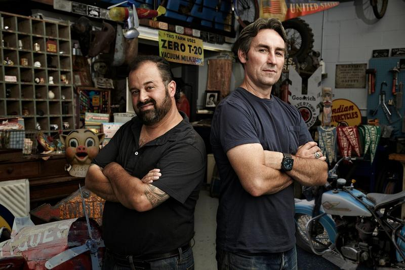 """American Pickers"" stars Frank Fritz and Mike Wolfe"
