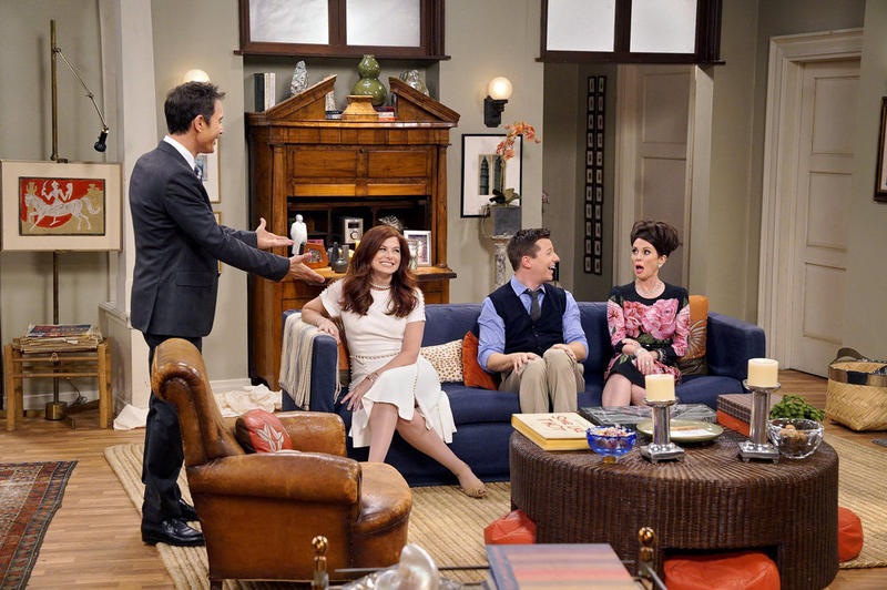 "Eric McCormack (from left), Debra Messing, Sean Hayes and Megan Mullally reprise their roles on NBC's ""Will & Grace"" revival this fall."