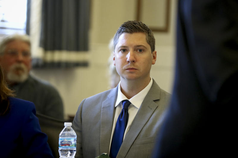 Ray Tensing in court during his trial.