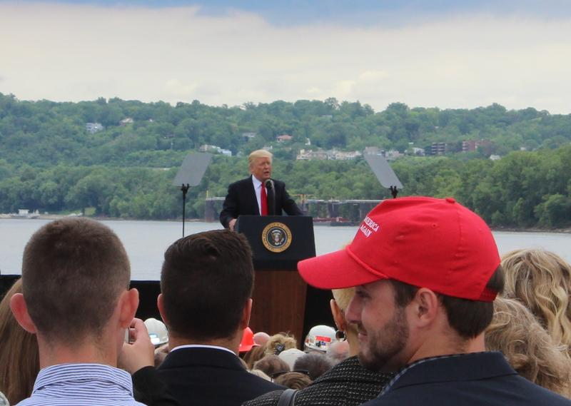President Trump spoke at an East End marina in 2017.