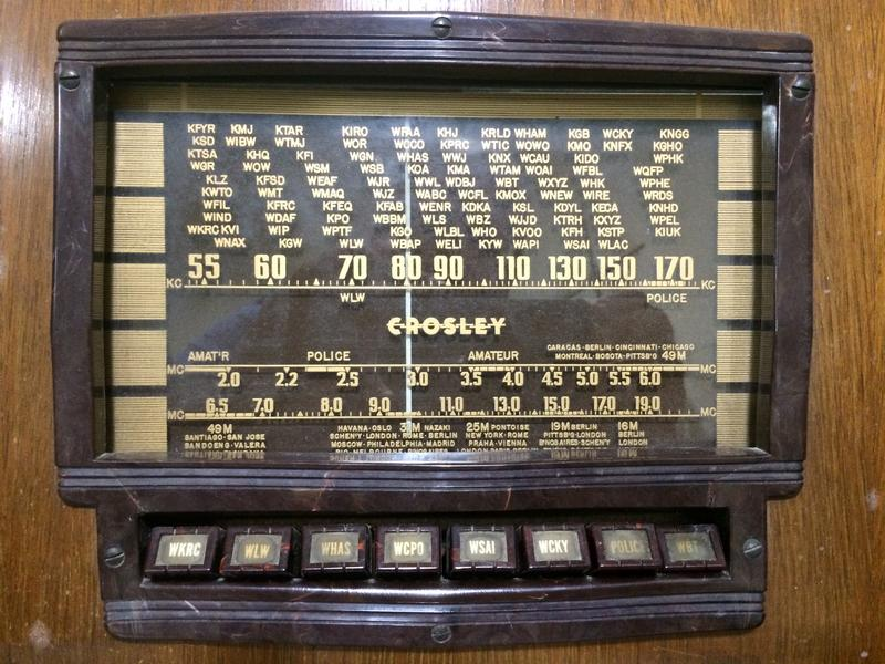 1941 Crosley radio dial at VOA Museum of Broadcasting
