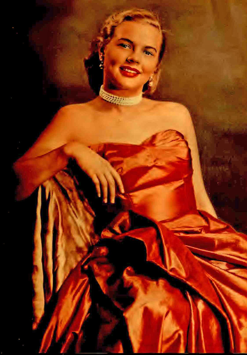 Sis Camp (Pohlkamp) as she appeared in the September 1953 Radio-TV Mirror magazine.