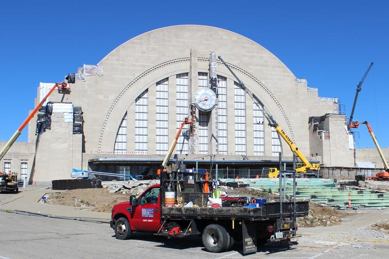 Work underway at Union Terminal in May, 2017.