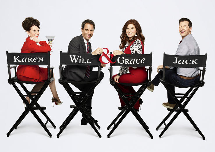 "Megan Mullally, Eric McCormack, Debra Messing and Sean Hayes reprise their roles on ""Will & Grace"" this fall. NBC photo"
