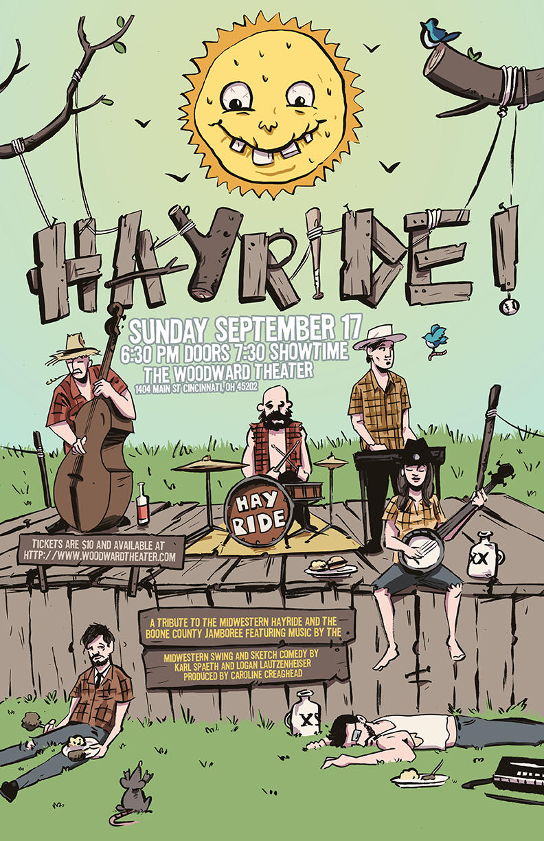 Promotional poster for Cameron Cochran's Hayride show.