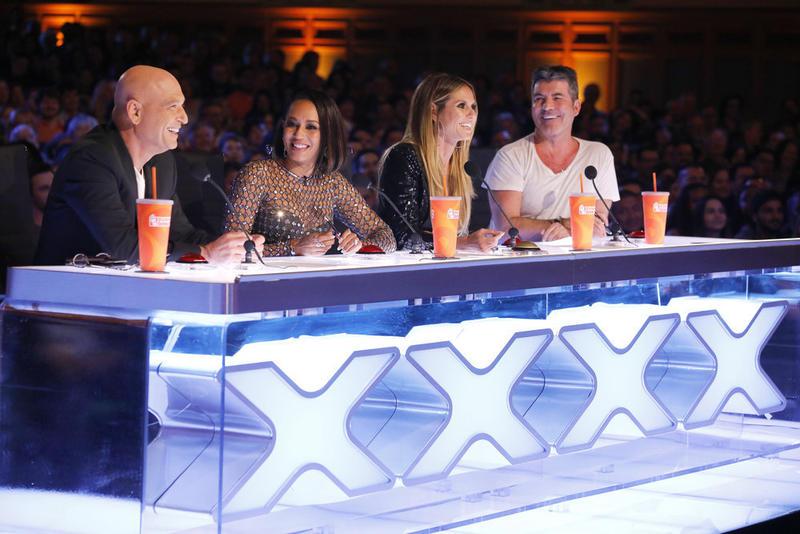 """America's Got Talent"" judges Howie Mandel, Mel Brown, Heidi Klum and Simon Cowell."