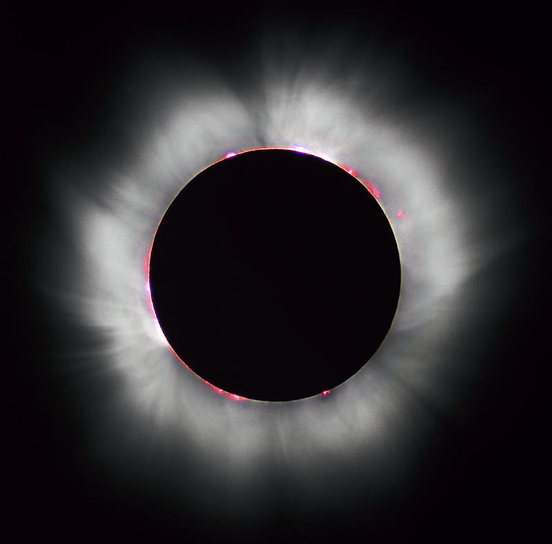 This total eclipse was captured in France in 1999.