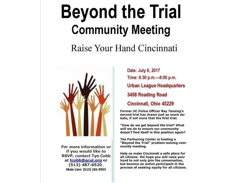 Flyer for Beyond the Trial community meeting.