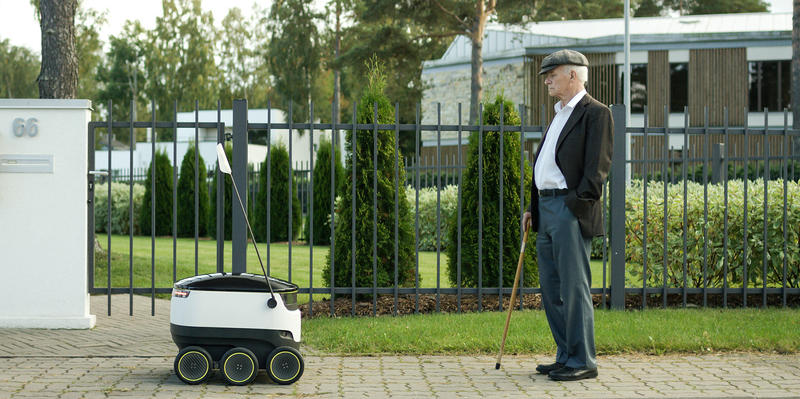 The sidewalk robots will be tested in Columbus later this year.