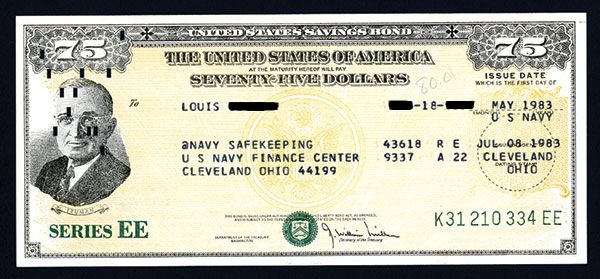 The 1983 Series EE Savings Bonds earned 7.5 percent annual interest compared to today's one-tenth of a percent rate on EE Bonds.