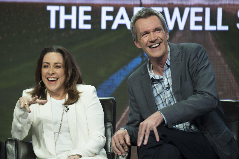 Stars Patricia Heaton and Neil Flynn at the Television Critics Association press conference Sunday.